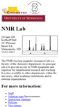 Mobile Preview of nmr.chem.umn.edu